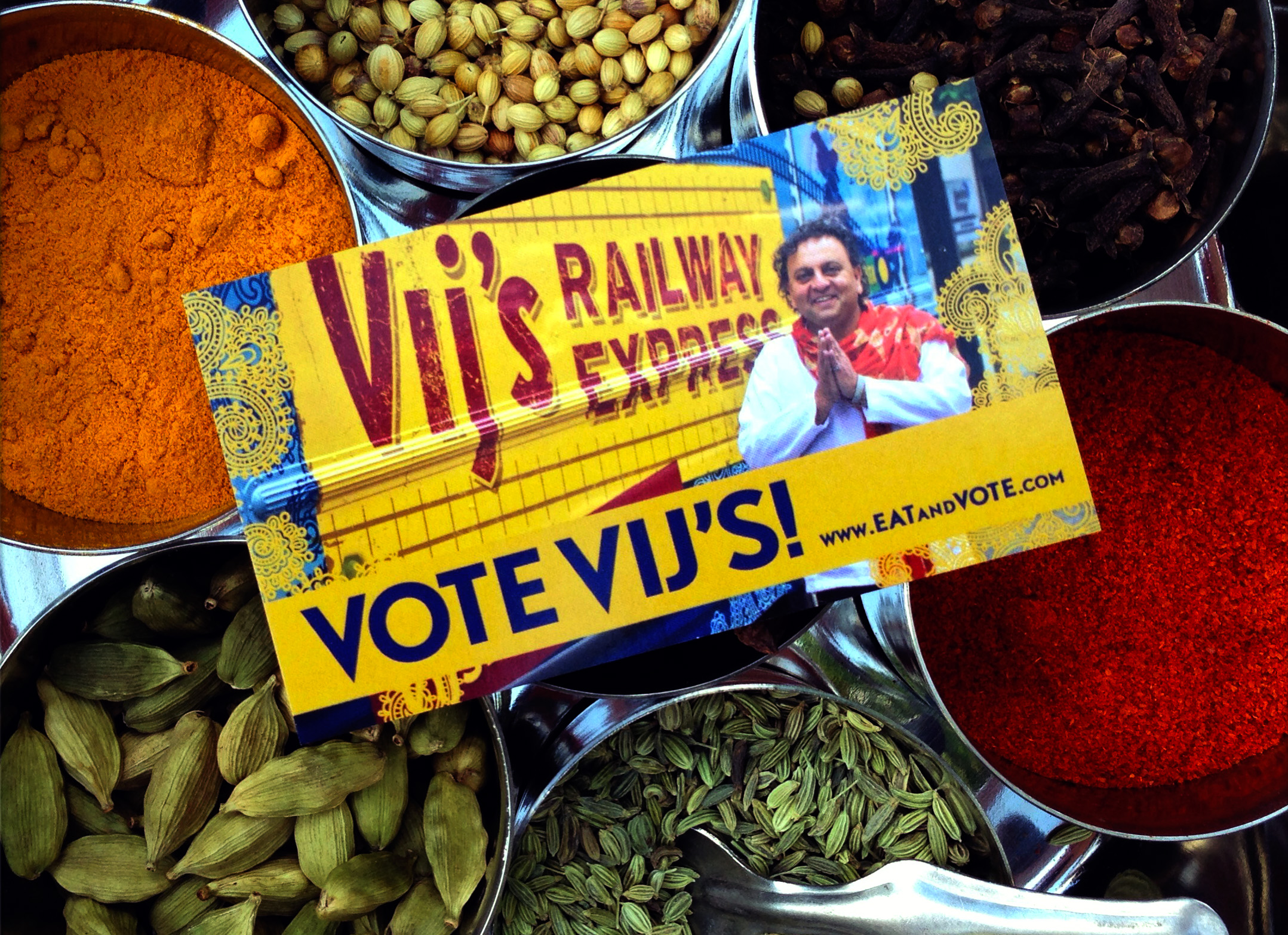 Vij's Railway Express gets out the vote