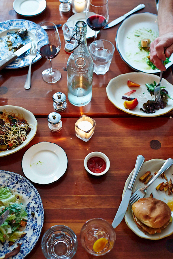 Table of prepared food at Edna in Halifax