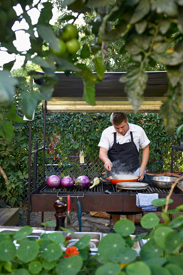 Outdoor Cooking at Restaurant Le Vin Papillon