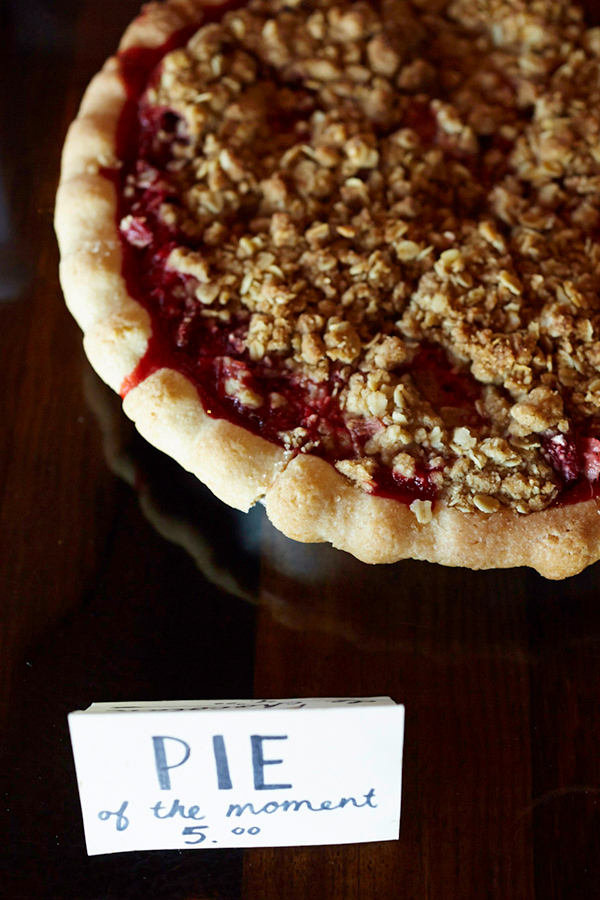 Fresh Pie at Restaurant Wolf In The Fog