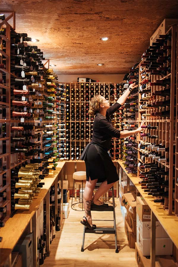 The wine cellar at Soif