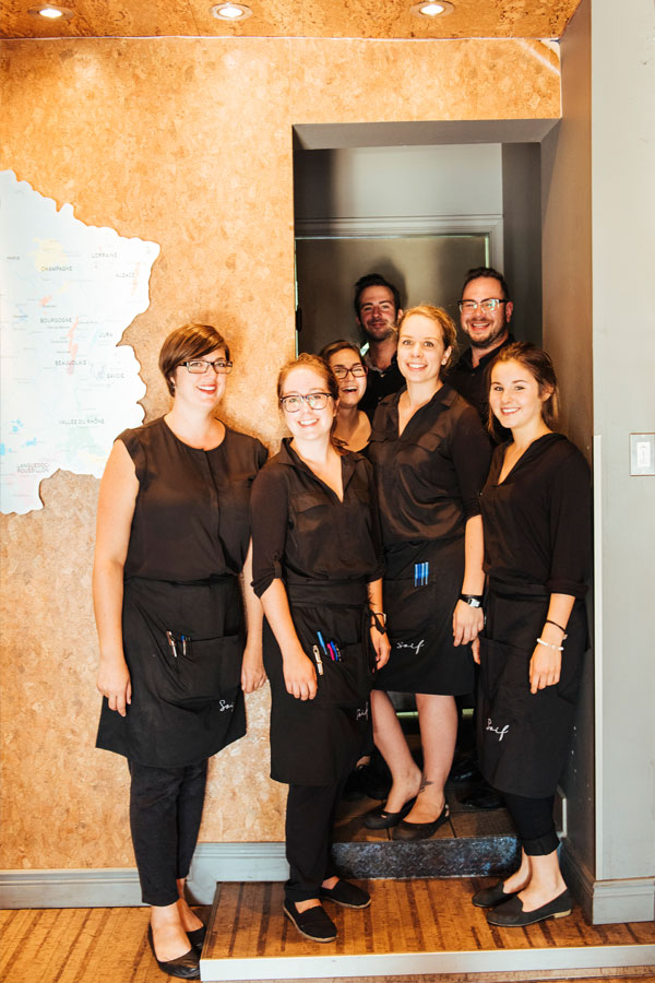 Happy staff members at Soif