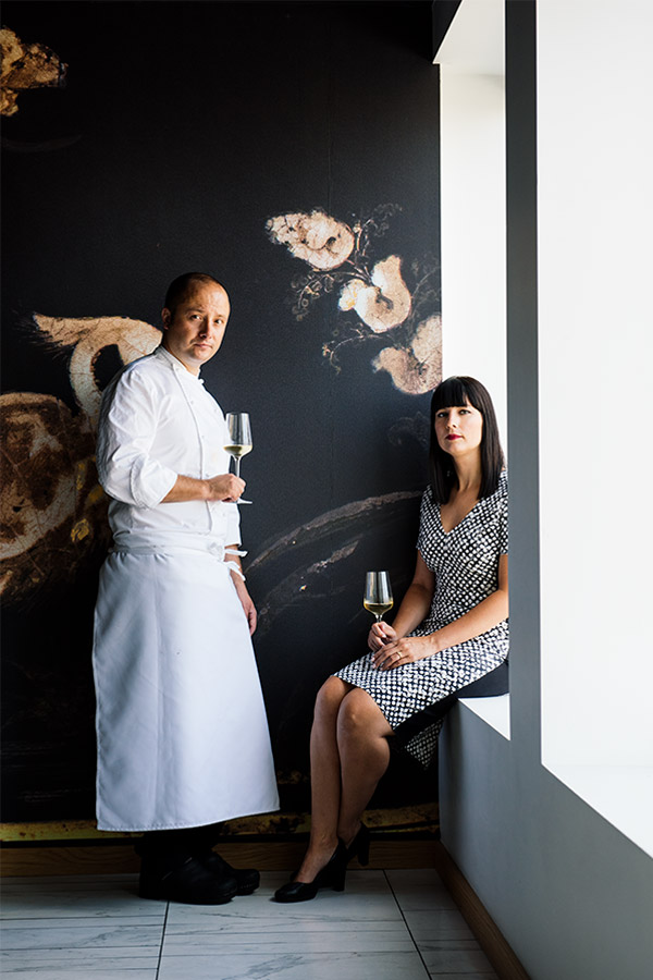 Patrick Kriss and Amanda Bradley at Alo restaurant, in Toronto (ON)